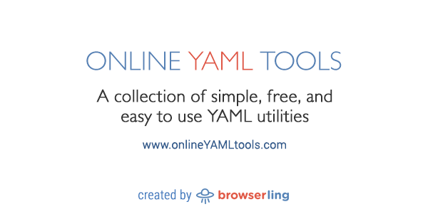 Online YAML Tools - Simple, free and easy to use YAML utilities